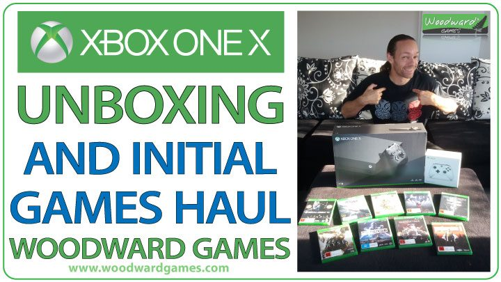 Xbox One X unboxing and Game Haul - Woodward Games