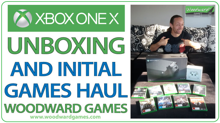 First YouTube Video for Woodward Games – Xbox One X Unboxing and Game Haul