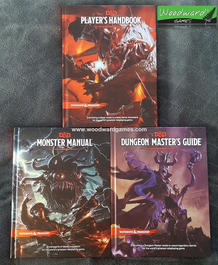 Dungeons and Dragons Manuals - D&D Player's Manual, Monster Manual, Dungeon Master's Guide